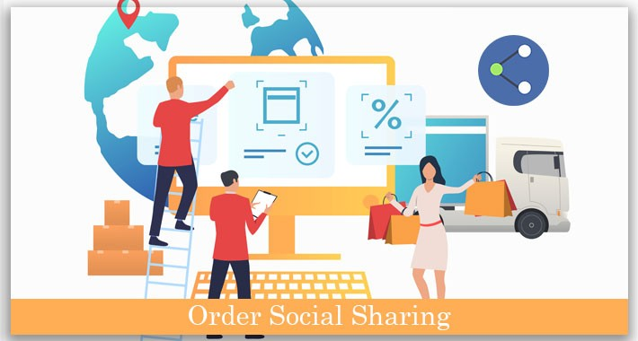 Opencart order social sharing plugin